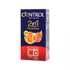 Preservativos Control 2in1 Finissimo + Lube Nature 6uds