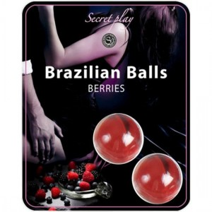 Secret Play Set 2 Brazilian Balls Aroma Frutas Del Bosque
