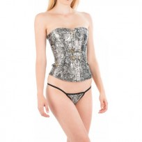 Intimax Corset Grey Flower Gris